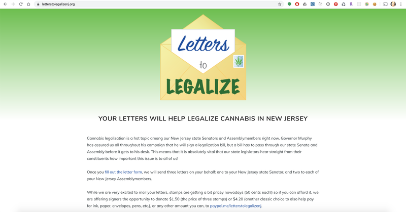 Letters to Legalize Home page with background information
